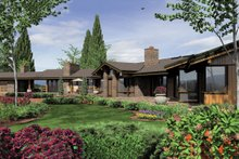 Architectural House Design - Ranch Exterior - Rear Elevation Plan #48-433