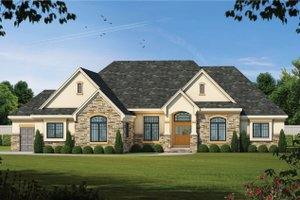 House Plan Design - European Exterior - Front Elevation Plan #20-2128
