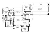 Contemporary Style House Plan - 4 Beds 4 Baths 3882 Sq/Ft Plan #48-1004 Floor Plan - Main Floor