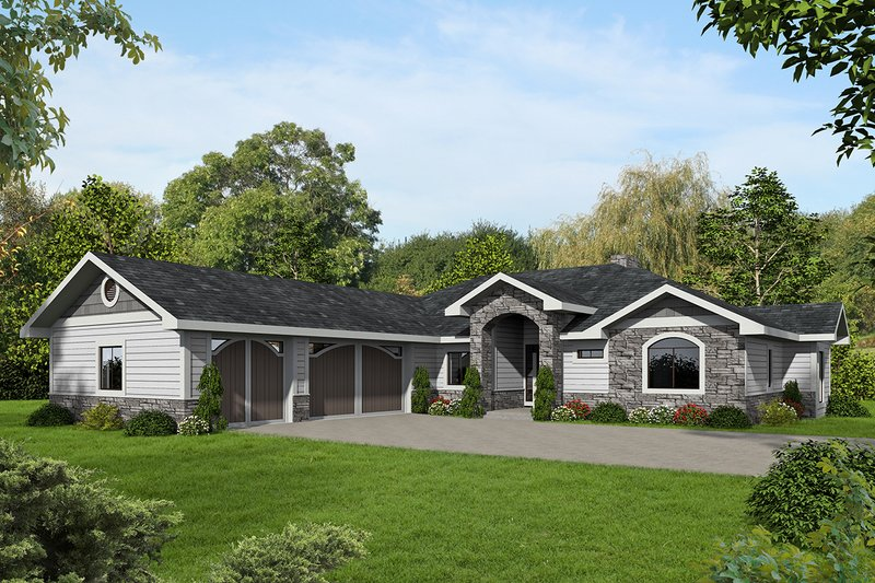 House Plan Design - Ranch Exterior - Front Elevation Plan #117-876