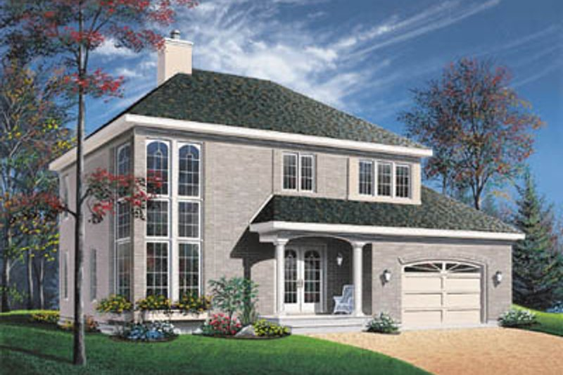 Modern Style House Plan - 4 Beds 2.5 Baths 1929 Sq/Ft Plan #23-2159 Exterior - Front Elevation