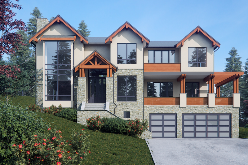Dream House Plan - Contemporary Exterior - Front Elevation Plan #1066-36