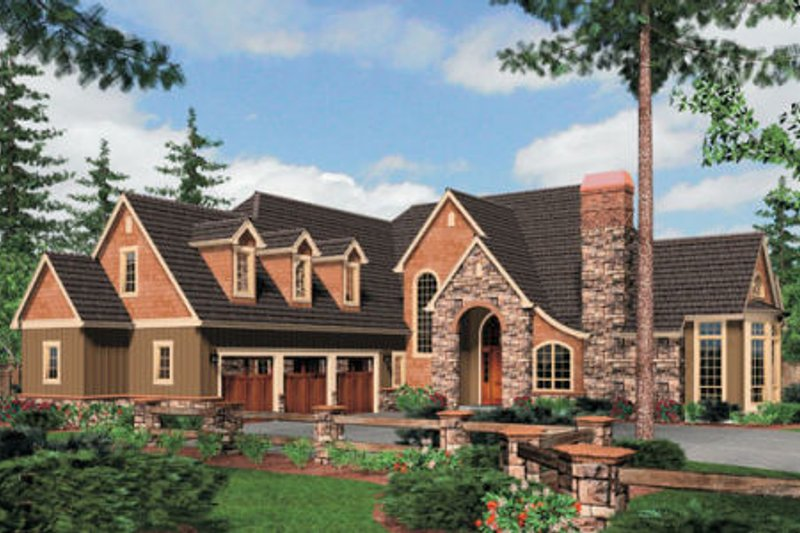 Dream House Plan - European Exterior - Front Elevation Plan #48-358