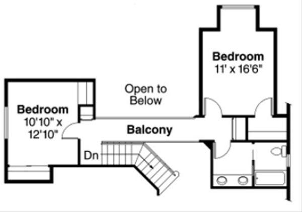 European Floor Plan - Upper Floor Plan Plan #124-817