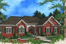 Dream House Plan - Southern Exterior - Front Elevation Plan #56-198