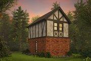 Tudor Style House Plan - 1 Beds 1 Baths 628 Sq/Ft Plan #48-999 Exterior - Rear Elevation