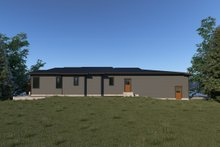 Contemporary Exterior - Rear Elevation Plan #1070-71
