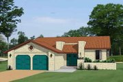 Adobe / Southwestern Style House Plan - 3 Beds 2.5 Baths 1597 Sq/Ft Plan #116-294 Exterior - Front Elevation