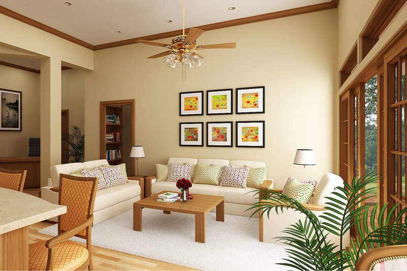 Cottage Interior - Family Room Plan #45-378 - Houseplans.com