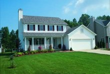 Dream House Plan - Colonial Exterior - Front Elevation Plan #20-497