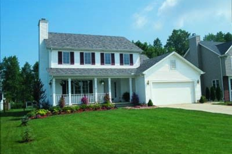 Colonial Exterior - Front Elevation Plan #20-497 - Houseplans.com