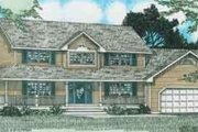 Country Style House Plan - 3 Beds 3 Baths 2170 Sq/Ft Plan #126-132 Exterior - Front Elevation
