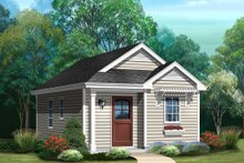 House Plan Design - Cottage Exterior - Front Elevation Plan #22-609
