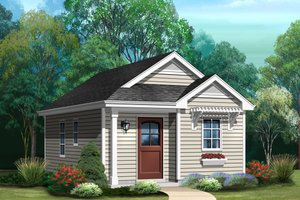Cottage Exterior - Front Elevation Plan #22-609