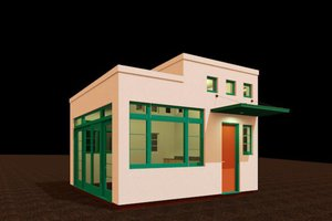 Modern Exterior - Front Elevation Plan #917-30