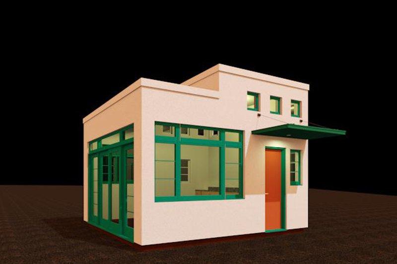 Modern Style House Plan - 1 Beds 1 Baths 192 Sq/Ft Plan #917-30