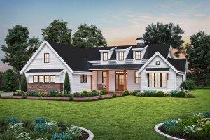 Architectural House Design - Farmhouse Exterior - Front Elevation Plan #48-1034