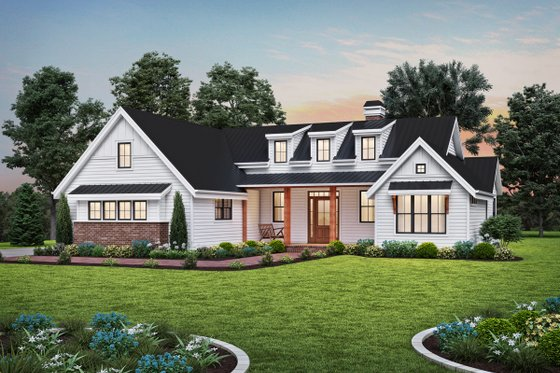 Farmhouse Exterior - Front Elevation Plan #48-1034