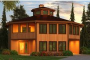 Colonial Style House Plan - 4 Beds 3 Baths 2078 Sq/Ft Plan #456-34 Exterior - Front Elevation