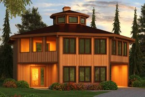Colonial Exterior - Front Elevation Plan #456-34