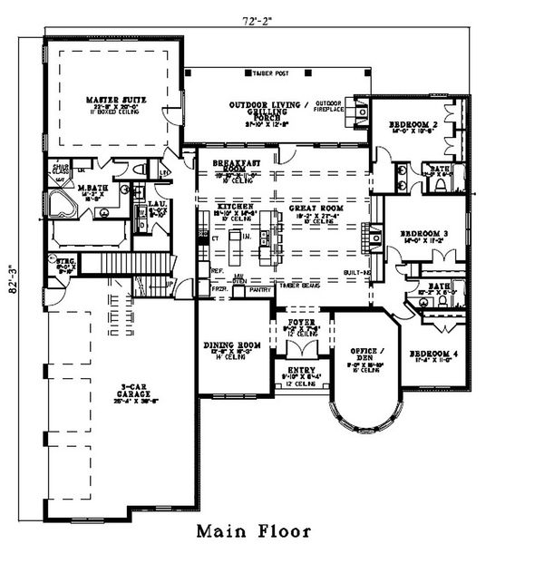 European Floor Plan - Other Floor Plan Plan #17-2440