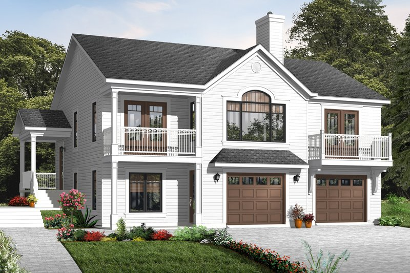 Home Plan - Country Exterior - Front Elevation Plan #23-2269
