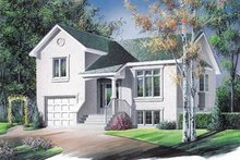 Home Plan Design - Traditional Exterior - Front Elevation Plan #23-1024