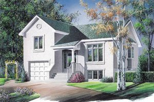 Architectural House Design - Traditional Exterior - Front Elevation Plan #23-1024