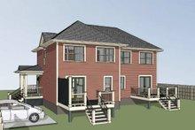 House Plan Design - Traditional Exterior - Rear Elevation Plan #79-239