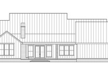 House Plan Design - Farmhouse Exterior - Rear Elevation Plan #1074-30