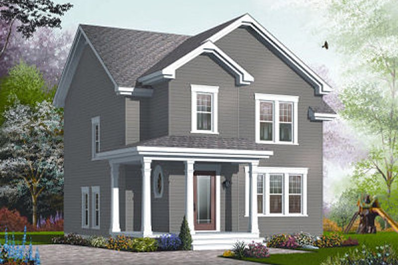 Traditional Exterior - Front Elevation Plan #23-740