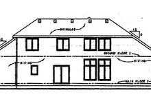 House Design - Traditional Exterior - Rear Elevation Plan #20-1773