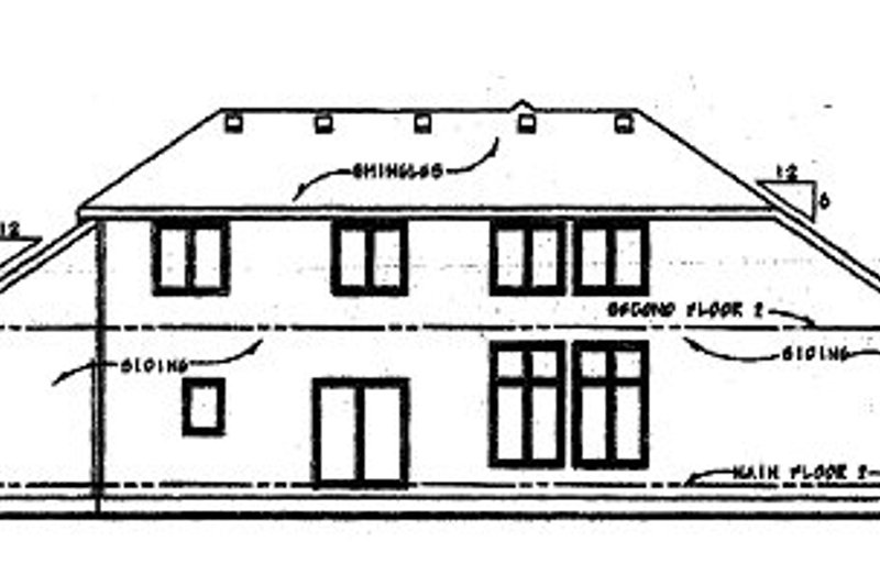 Traditional Exterior - Rear Elevation Plan #20-1773 - Houseplans.com