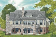 Craftsman Style House Plan - 4 Beds 4.5 Baths 3754 Sq/Ft Plan #453-58 Exterior - Rear Elevation
