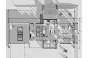 Contemporary Style House Plan - 4 Beds 2.5 Baths 3652 Sq/Ft Plan #481-1 Floor Plan - Main Floor Plan