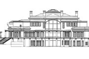 Classical Style House Plan - 5 Beds 6.5 Baths 9745 Sq/Ft Plan #119-164 Exterior - Rear Elevation