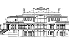 Architectural House Design - Classical Exterior - Rear Elevation Plan #119-164