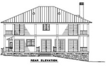 House Plan Design - Southern Exterior - Rear Elevation Plan #17-2053