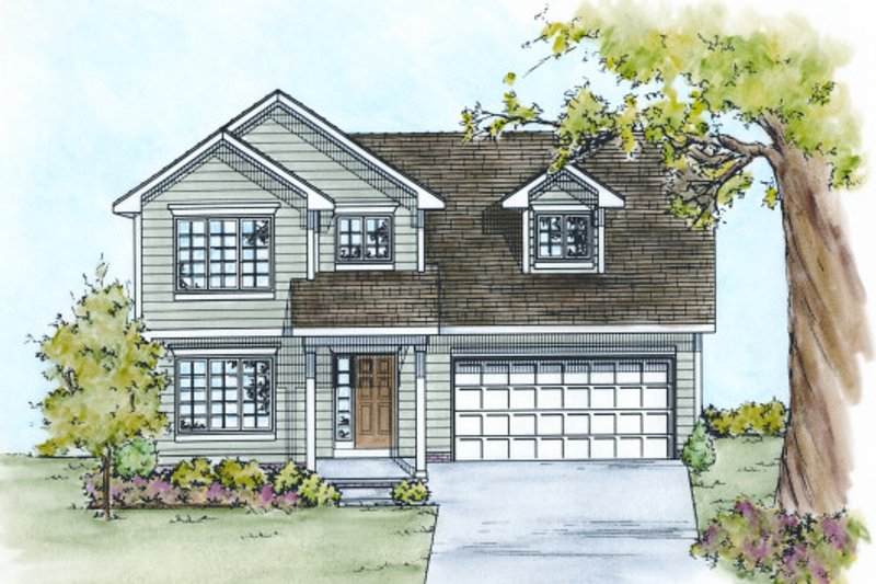 Traditional Exterior - Front Elevation Plan #20-2103 - Houseplans.com