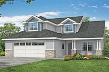 Traditional Exterior - Front Elevation Plan #124-1190