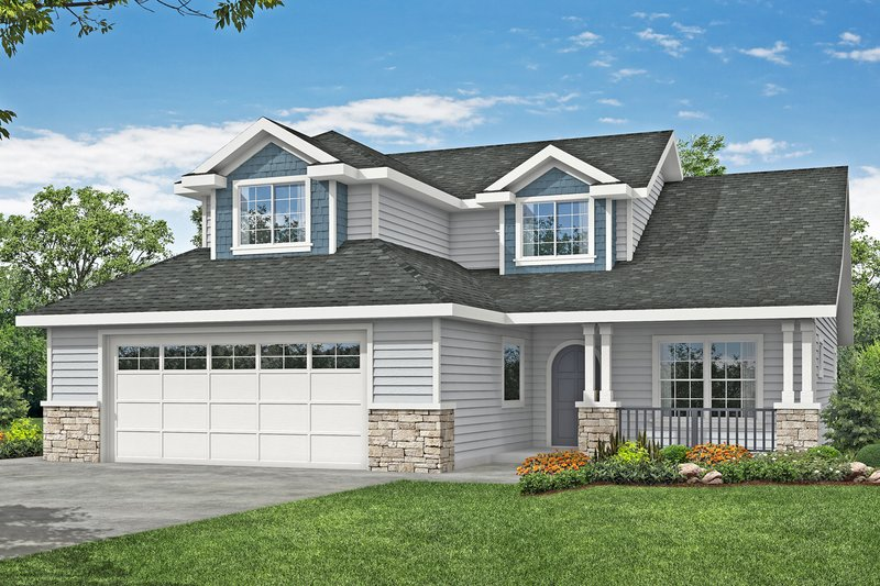 Traditional Style House Plan - 3 Beds 2.5 Baths 2431 Sq/Ft Plan #124-1190