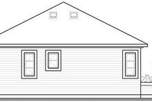 Cottage Exterior - Rear Elevation Plan #23-683