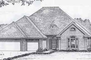 Colonial Exterior - Front Elevation Plan #310-801