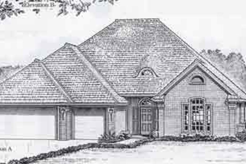 Colonial Style House Plan - 4 Beds 2.5 Baths 2100 Sq/Ft Plan #310-801 Exterior - Front Elevation