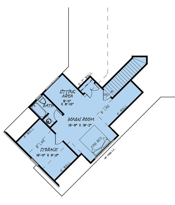 European Floor Plan - Upper Floor Plan Plan #923-136