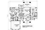 Cottage Style House Plan - 4 Beds 3 Baths 2465 Sq/Ft Plan #51-568 Floor Plan - Main Floor
