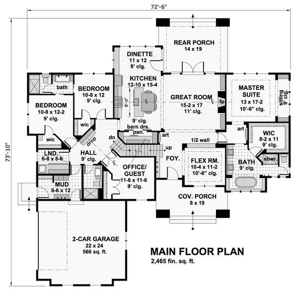 Cottage Floor Plan - Main Floor Plan #51-568