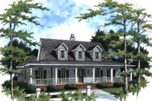 Country Exterior - Front Elevation Plan #37-120