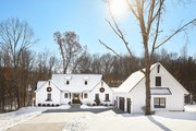 Farmhouse Style House Plan - 4 Beds 3 Baths 3718 Sq/Ft Plan #928-357 Exterior - Front Elevation