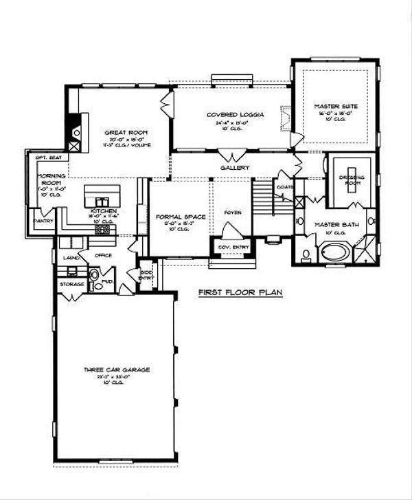 European Floor Plan - Main Floor Plan Plan #413-146